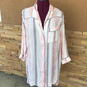 Free People intimately Button Down Night Shirt